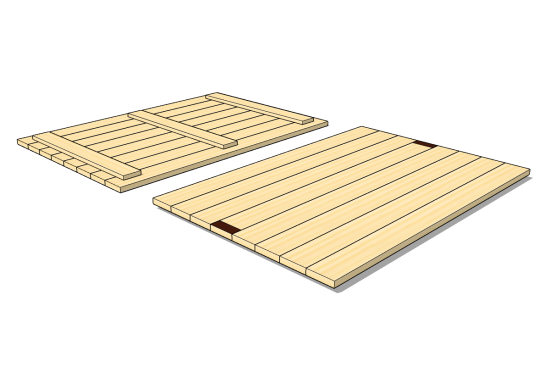 Lid for wooden collar of type SBB 1200 x 800 x 36 [mm]