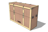UN-Wooden Crate for hazardous goods