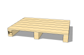 2-way pallet with closed deck 800 x 600 x 118 [mm]