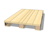 4-way pallet with closed deck 1200 x 800 x 129 [mm]