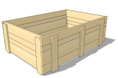 One-way wooden pallet collar 1200 x 800 x 400 [mm]