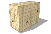Wooden Crate 2400x1200x2000