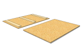 Lid for wooden collar OSB 1200 x 800 x 30 [mm]