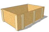 One-way OSB pallet collar 1200 x 800 x 400 [mm]